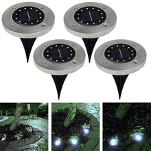 Load image into Gallery viewer, 5/8/12LED Solar Power Buried Light Under Ground Lamp Outdoor Path Way Garden Lawn Yard Outdoor Lighting