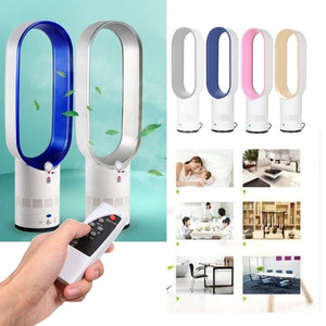 16 Inch Mute Remote Control Air Electric Fan Floor Bladeless Cooling Fan (UK Plug)
