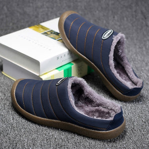 Outdoor and Indoor Unisex Cozy Warm Slip-Resistant Cotton Home Slippers