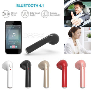I7S Wireless Earphone Bluetooth Headset In-Ear Earbud with Mic for IPhone 8 7 Plus 7 6 6s 5s for Samsung