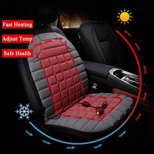 Universal 12V Car Front Seat Heated Cushion Winter Warmer Cover