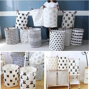 Cotton Linen Storage Box Holder Organizer for Home Clothes Tidy Basket