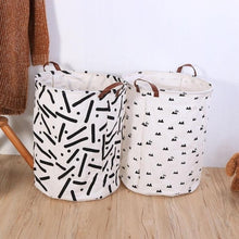 Load image into Gallery viewer, Cotton Linen Storage Box Holder Organizer for Home Clothes Tidy Basket