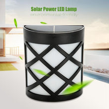 Load image into Gallery viewer, 4pcs Waterproof Solar Power LED Light Wall-mounted Lamp For Garden Path Courtyard Fence