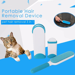 3 In 1 Portable Dog Hair Brush Pet Fur Comb Plastic Cat Floating Hair Combing for Clothes