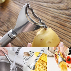 Stainless Steel Corn Cutter Peeler Stripper Corn Thresher Tool Slicer Corn Stripper