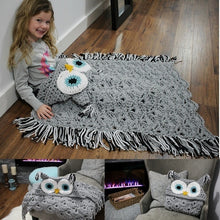 Load image into Gallery viewer, Owl Knitted Blanket for Adults,Kids Various Holiday Gifts