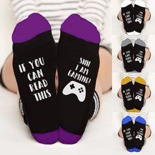 Load image into Gallery viewer, Unisex Socks If You Can Read This Say I Am Gaming Printed Funny Winter Warm Socks