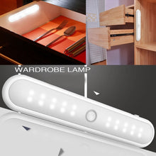 Load image into Gallery viewer, 20 LED Portable Wireless Cabinet Night Light Motion PIR Sensor Closet Under Lamp