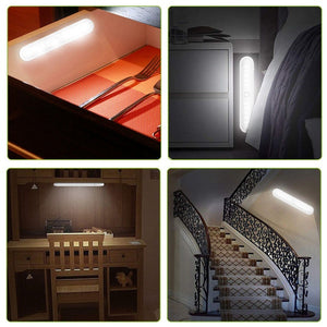 20 LED Portable Wireless Cabinet Night Light Motion PIR Sensor Closet Under Lamp