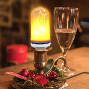 4 Modes Gravity Sensor Fire Light Bulb LED Flame Effect Natural Light E27 Flickering Holiday Decoration (4pcs)