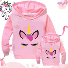 Load image into Gallery viewer, New Girls Fashion Hooded Sweatshirt Casual Long Sleeve Printed Solid Color for Baby Children