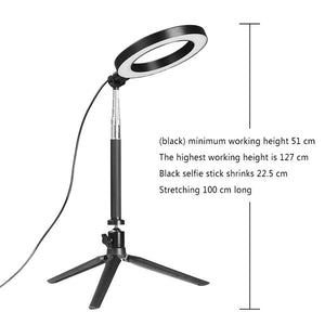 Dimmable LED SMD Ring Fill Light With Tripod for Camera Photo Studio Selfie Photography