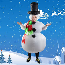 Load image into Gallery viewer, Santa Claus Snowman Inflatable Suit Christmas Party Costume Clothes Xmas Beard Hat