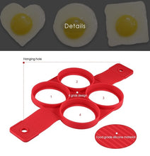 Load image into Gallery viewer, Non-stick Silicone Egg Rings Maker Pancake Mold