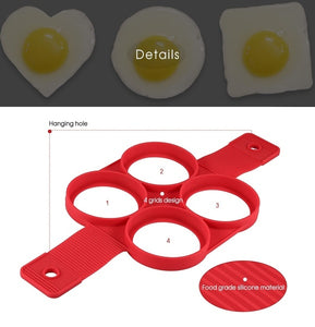 Non-stick Silicone Egg Rings Maker Pancake Mold