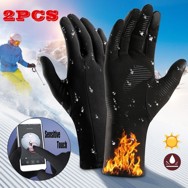 Windproof Waterproof Winter Warm Gloves Touch Screen Full Finger Gloves