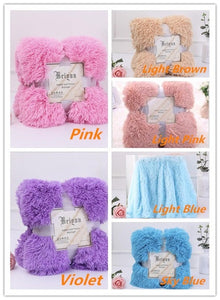 Large Soft Warm Shaggy Faux Fur Throw Blanket Sofa Double King Bed Blanket