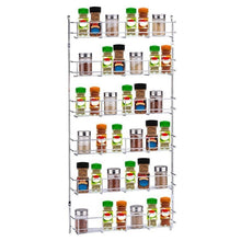 Load image into Gallery viewer, Silver Kitchen Spice Rack Cabinet Shelf Organizer Storage Wall Mount Holder