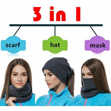 Load image into Gallery viewer, 3 In 1 Winter Unisex Multifunctional Sport Scarf Headwear Face Mask Outdoor Neck Warmer Beanie