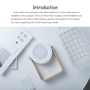 Multifunction Lantern Light Portable/Collapsible/Chargeable/Dimmable Desk Lamp Creative Nightlight