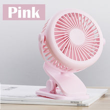 Load image into Gallery viewer, Mini USB Rechargeable Small Fan 360 Quiet Stroller Fan Small Portable Office Desktop Cooling Fan