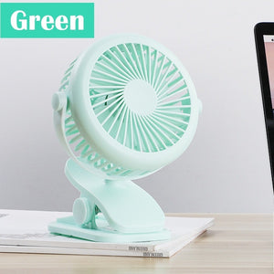 Mini USB Rechargeable Small Fan 360 Quiet Stroller Fan Small Portable Office Desktop Cooling Fan