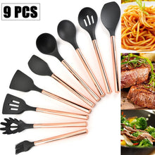 Load image into Gallery viewer, Silicone Non-scratch Cooking Kitchen Utensils Set Rose Gold Stainless Steel Handle