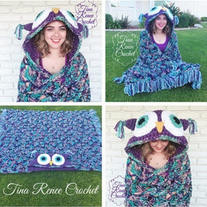 Owl Knitted Blanket for Adults,Kids Various Holiday Gifts