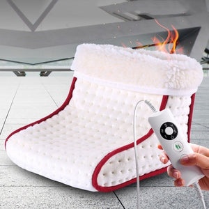 Cosy Heated Electric Warm Foot Warmer Washable Heat 5 Modes Settings