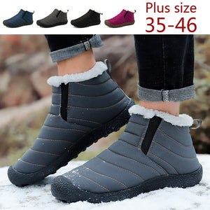 Unisex Winter Snow Boots Cotton Inside Antiskid Bottom Keep Warm Waterproof Ski Flats