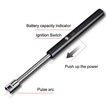 Load image into Gallery viewer, 360 Degree Rotation Pulse Arc Lighter Rechargeable Usb Windproof Lighter Portable BBQ Lighter