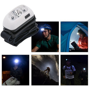 5000Lm Mini Rechargeable Led Headlamp Body Motion Sensor Headlight Camping Flashlight Head Light Torch Lamp With Usb