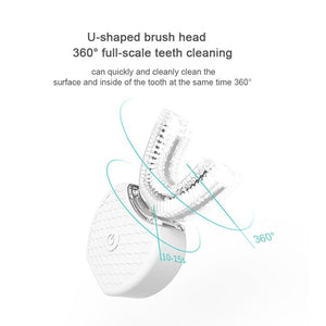 Ultrasonic Electric Toothbrush Full-automatic Variable-frequency 360° Teeth Cold Light Tooth Whitening Kit Tooth Cleaning Tool