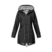 Load image into Gallery viewer, Women Casual Long Jacket Rain Coat Long Sleeve Hooded Windbreaker Coat