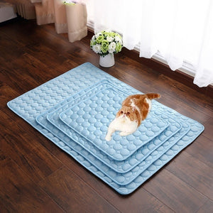 Pet Dog Cat Sleeping Pad Cool Mattress Cushion Ice Silk Pet Cooling Mat