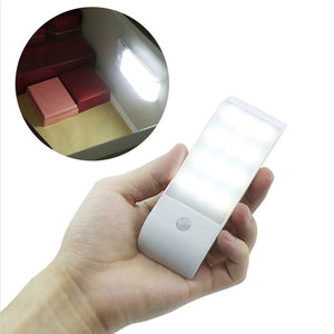 USB Rechargeable 12LED Auto PIR Motion Sensor Closet Night Light