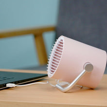 Load image into Gallery viewer, Portable Mini Whisper Quiet Cyclone Air Circulating Technology Touch Sensoring USB Table Desk Fan