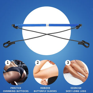 Portable Pilates Stick Resistance Band Fitness Equipments