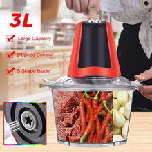 Load image into Gallery viewer, 2L/3L Multipurpose Electric Meat Slicer Vegetable Grinders Mincer Cutter Food Processor with Vegetable Plastic Bowl
