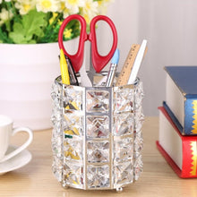 Load image into Gallery viewer, Glitter Metal Makeup Brush Storage Holder Cosmetic Crystal Organizer