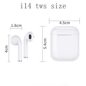 i14 TWS 1:1 Mini Air Pods Wireless Bluetooth 5.0 Touch Control Super 3D Stereo Bass Earbuds