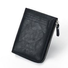 Load image into Gallery viewer, RFID Protection PU Leather Wallets for Men With Zipper Coin Purse Card Holder Casual Cash Wallet