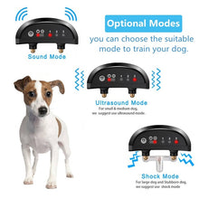 Load image into Gallery viewer, Rechargeable Anti Bark Control Collar Waterproof Ultrasonic Vibration Shock Pet Dog Training Collars