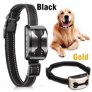 Rechargeable Anti Bark Control Collar Waterproof Ultrasonic Vibration Shock Pet Dog Training Collars