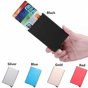 RFID Blocking Mens Credit Card Automatic Card Sets