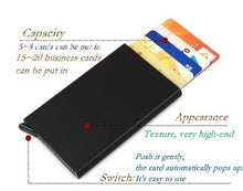 Load image into Gallery viewer, RFID Blocking Mens Credit Card Automatic Card Sets