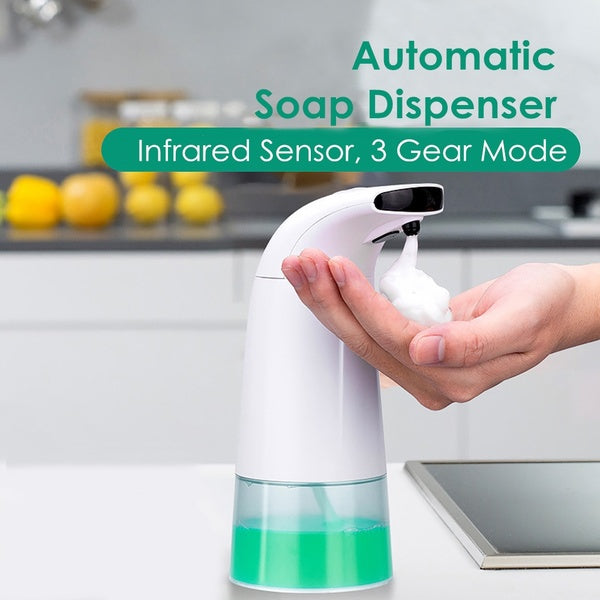 Electric Battery Automatic Soap Dispenser, 3 Gear Mode Touchless Infrared Sensor Foam Washing Soap Dispenser