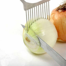 Load image into Gallery viewer, Easy Cut Onion Holder Fork Plastic Vegetable Slicer