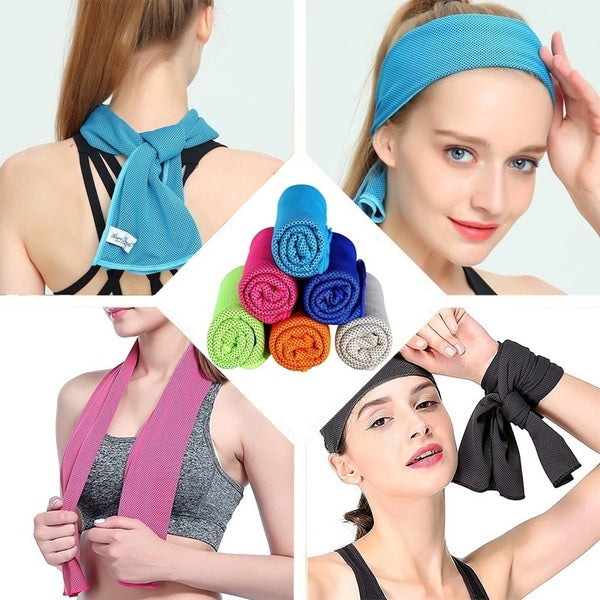 100*30cm Cooling Towel Fitness Yoga Towels for Travel Camping Golf Football &Outdoor Sports
